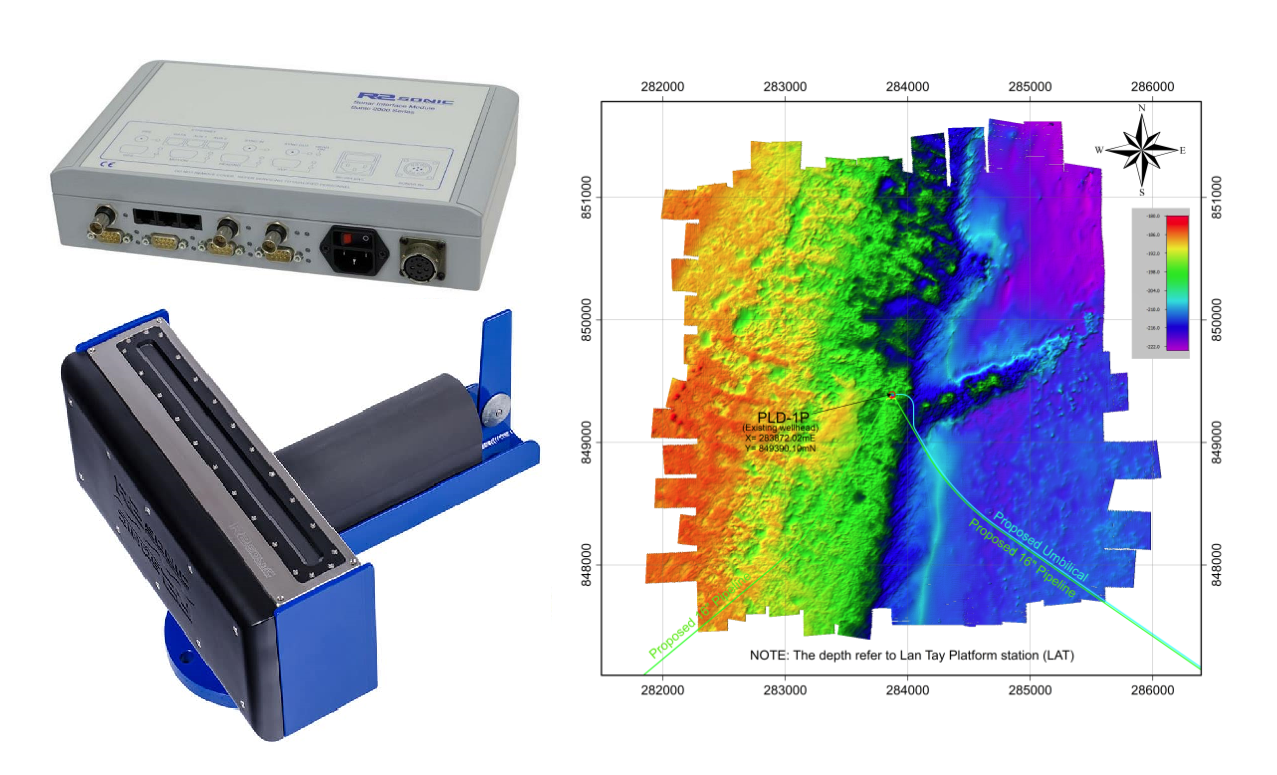 Máy đo sâu hồi âm đa tia R2Sonic 2024