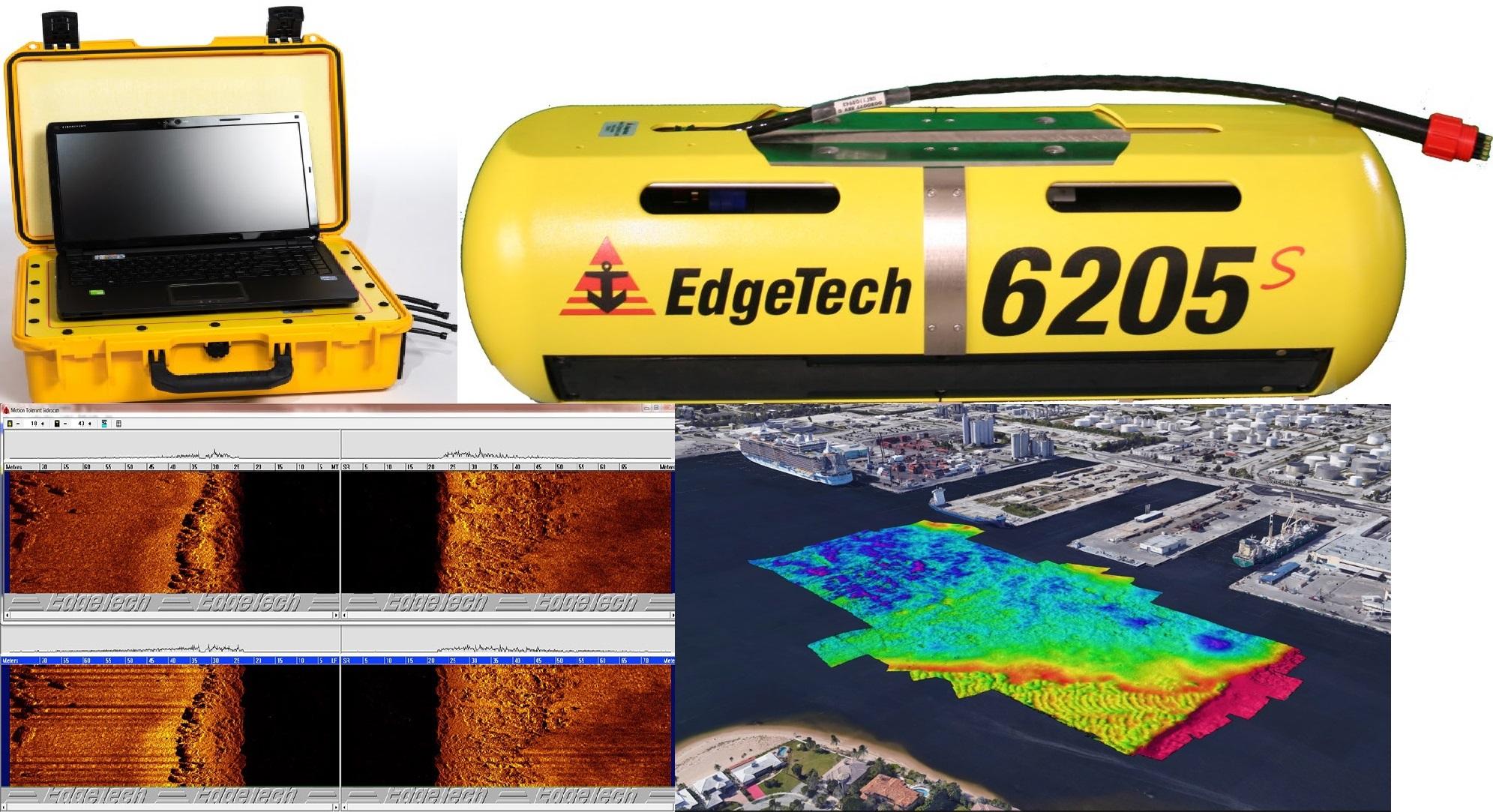 Máy đo sâu hồi âm đa tia kết hợp quét bề mặt đáy biển EDGETECH 6205s
